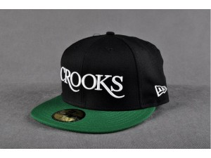 CROOKS Black/Green 59Fifty